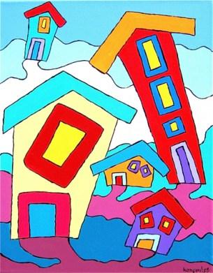 tipsy houses, Karin Konoval