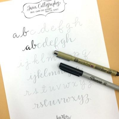 Fun Faux Calligraphy for Everyone…