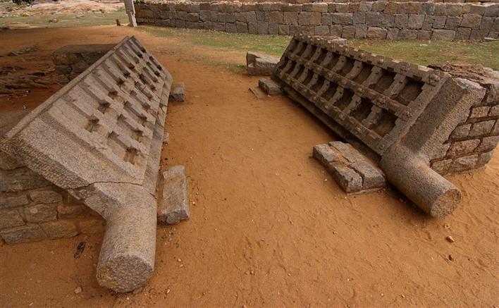 Stone doors in Hampi. Photographer Shriram Swaminathan