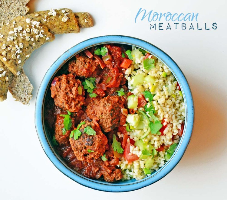 Moroccan meatballs in spicy tomato sauce