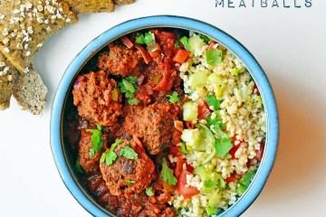 Moroccan meatballs in tomato sauce