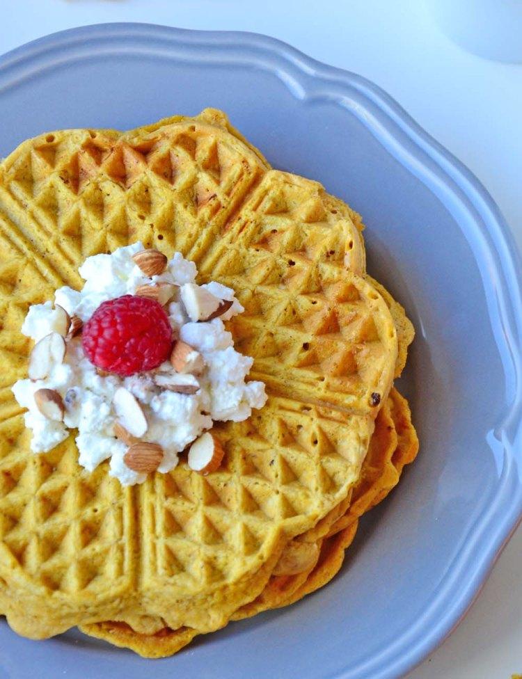 Sweet potato waffles