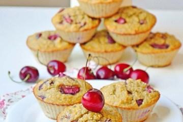 Protein cherry muffins