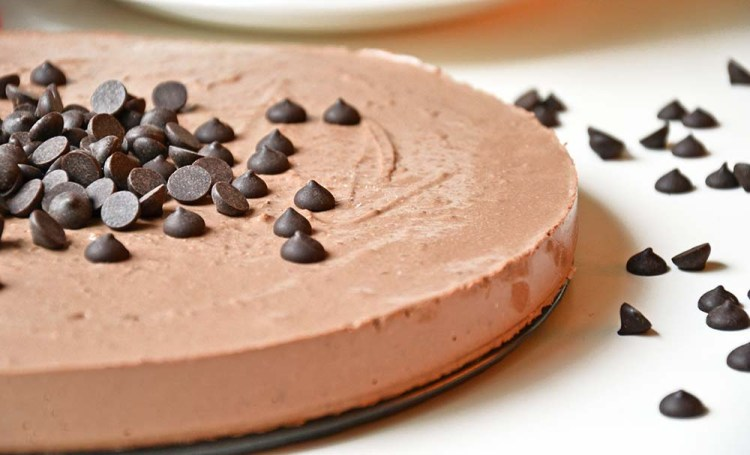 Healthy chocolate cheesecake