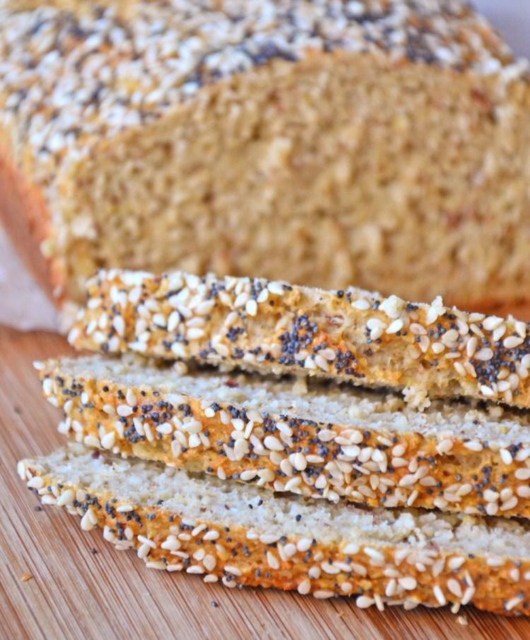 Whole grain oatmeal protein bread