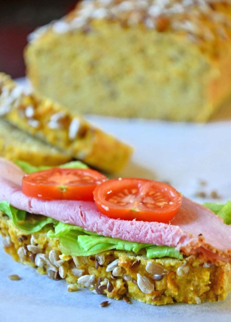 Proteinrikt og grovt gulrotbrød