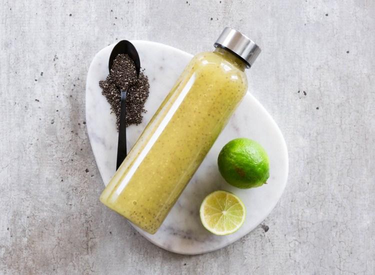Chiadrikk med mango & lime