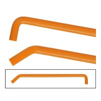 Orange Silicone water hose 20 mm armed 100 cm with 90 ...