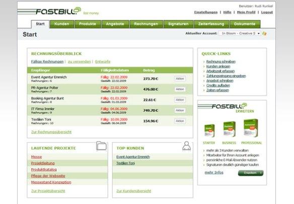 Rechnung schreiben mit FastBil