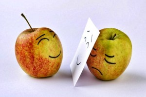 Perspektive Apfel