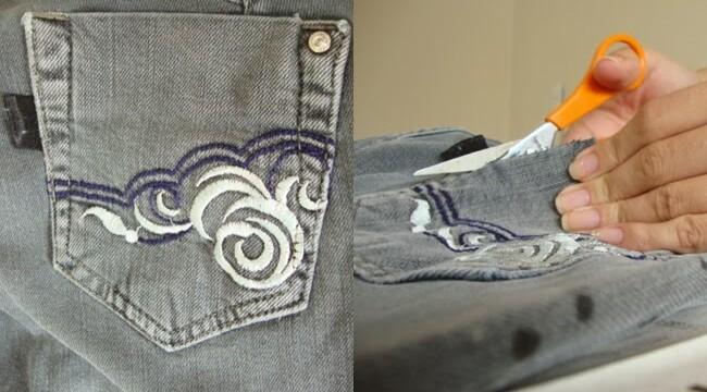 Customizando 7: calça desbotada