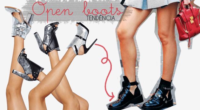 Tendências: open boots