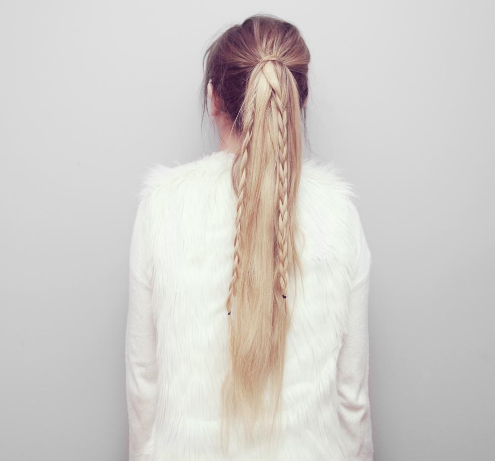 Straight Ponytail Braids Hair Tutorial Kassinka