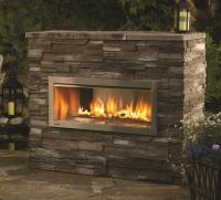 Outdoor Gas Fireplaces - Horizon HZO42 - Kastle Fireplace