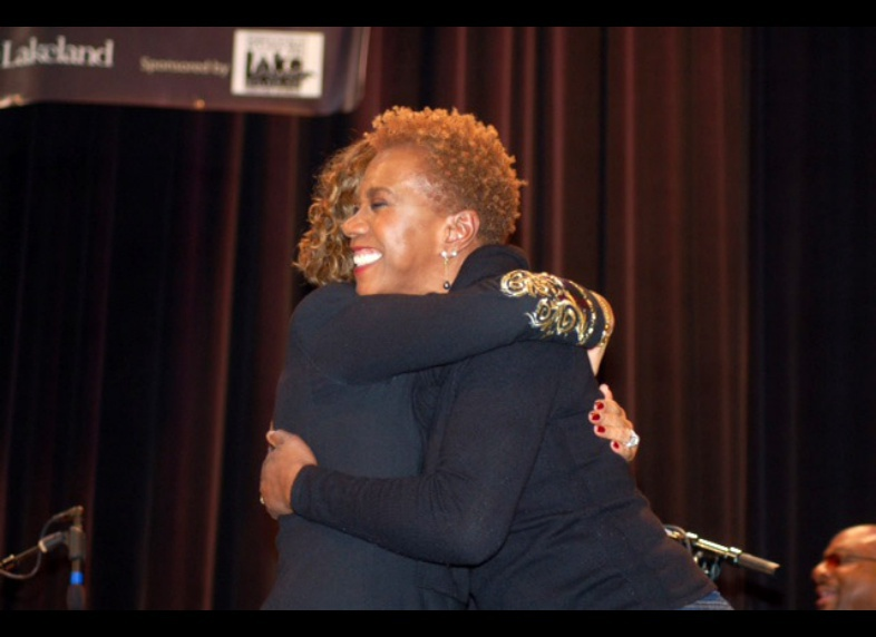 Sharing the stage with Carmen Lundy