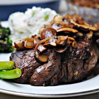 Ranch Steak with Onions and Mushrooms