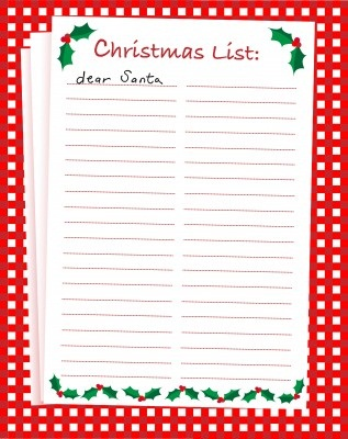 The Christmas Project #6 Get Your Christmas Gift List Together - christmas wish list paper