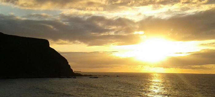 Sunset Gamrie Bay