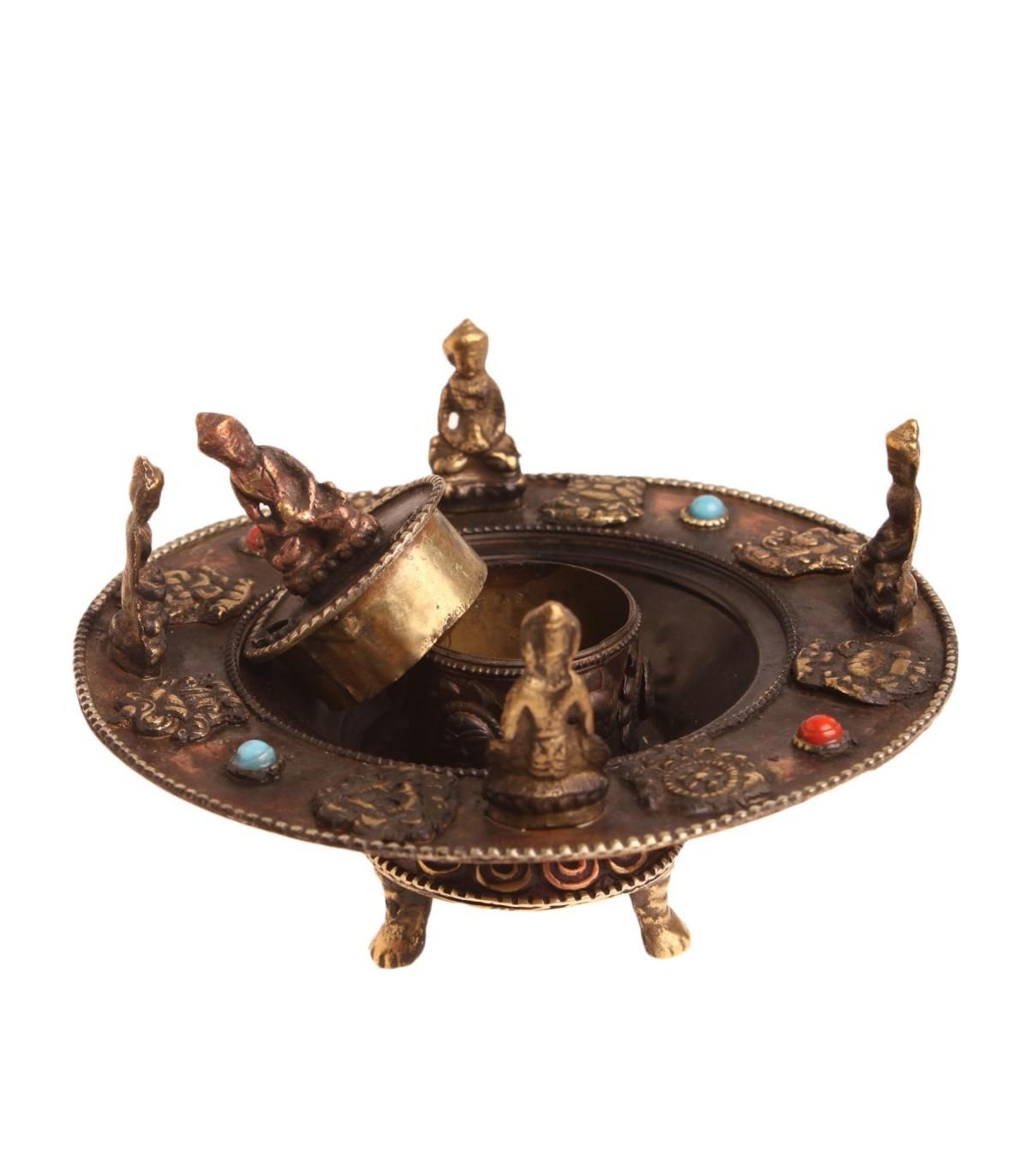 Meditating Buddha Incense Holder