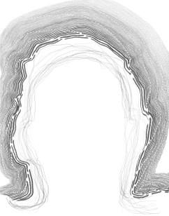 "traced head on paper graphite 14"" x 11"""