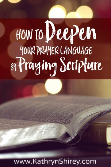 Not sure how to pray? Struggle for the right words? Learn how to pray scripture and deepen your prayer language. Pray God's words back to Him. (+ free printable prayer cards)