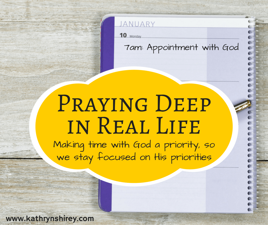 Making prayer a priority in our busy lives is essential to staying focused on God's priorities for our lives. Learn ways to improve your real life prayer time. (+ free printable prayers cards)