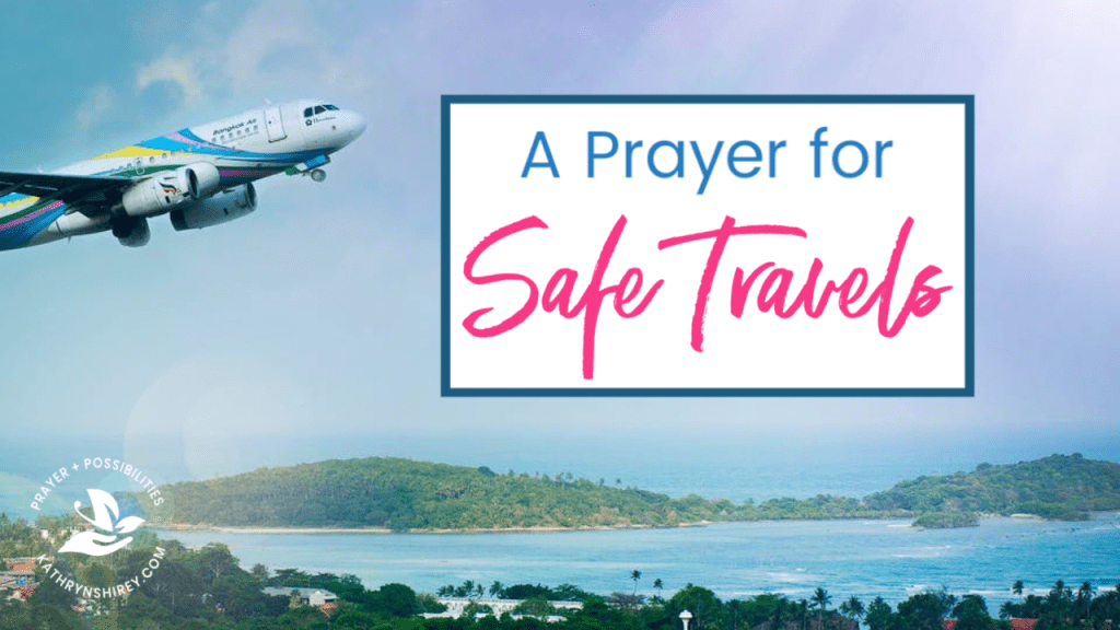 A daily prayer for safe travels. Whether you travel for work or school, or are heading out on a vacation, pray for God's protection for your travels.