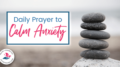 A daily prayer to calm anxiety, to remember to pray more and worry less. Rejoice in the Lord and let him fill you with His peace.