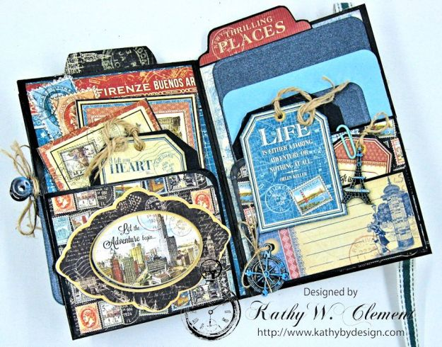 Oh the Places You'll Go Mini Album Frilly and Funkie Challenge by Kathy Clement 06
