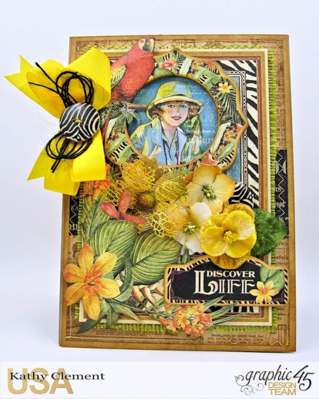 Safari Adventure Pocket Card Snapguide Tutorial by Kathy Clement Graphic 45 Safari Adventure Photo 3