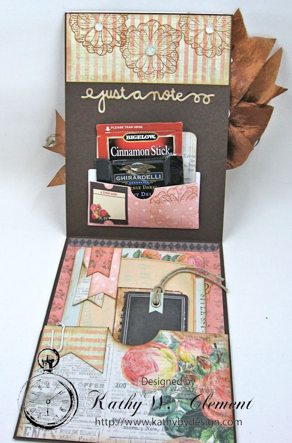 You're in My Thoughts Pocket Card by Kathy Clement for Really Reasonable Ribbon Product by Prima Something Blue Photo 4