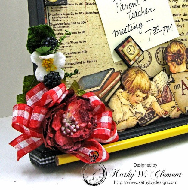 Petaloo Goes Back to School Message Board, ABC Primer, By Kathy Clement, Product by Petaloo and Graphic 45 Photo 3