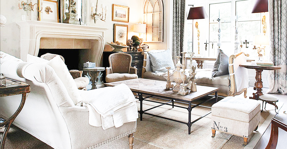 French Country Furniture, Lighting \ Home Decor Kathy Kuo Home - country style living room furniture