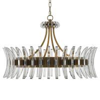 Lumley Modern Optic Crystal Round Brass Chandelier   Kathy ...