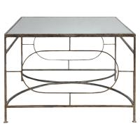 Peg Regency Ornate Silver Iron Coffee Table | Kathy Kuo Home