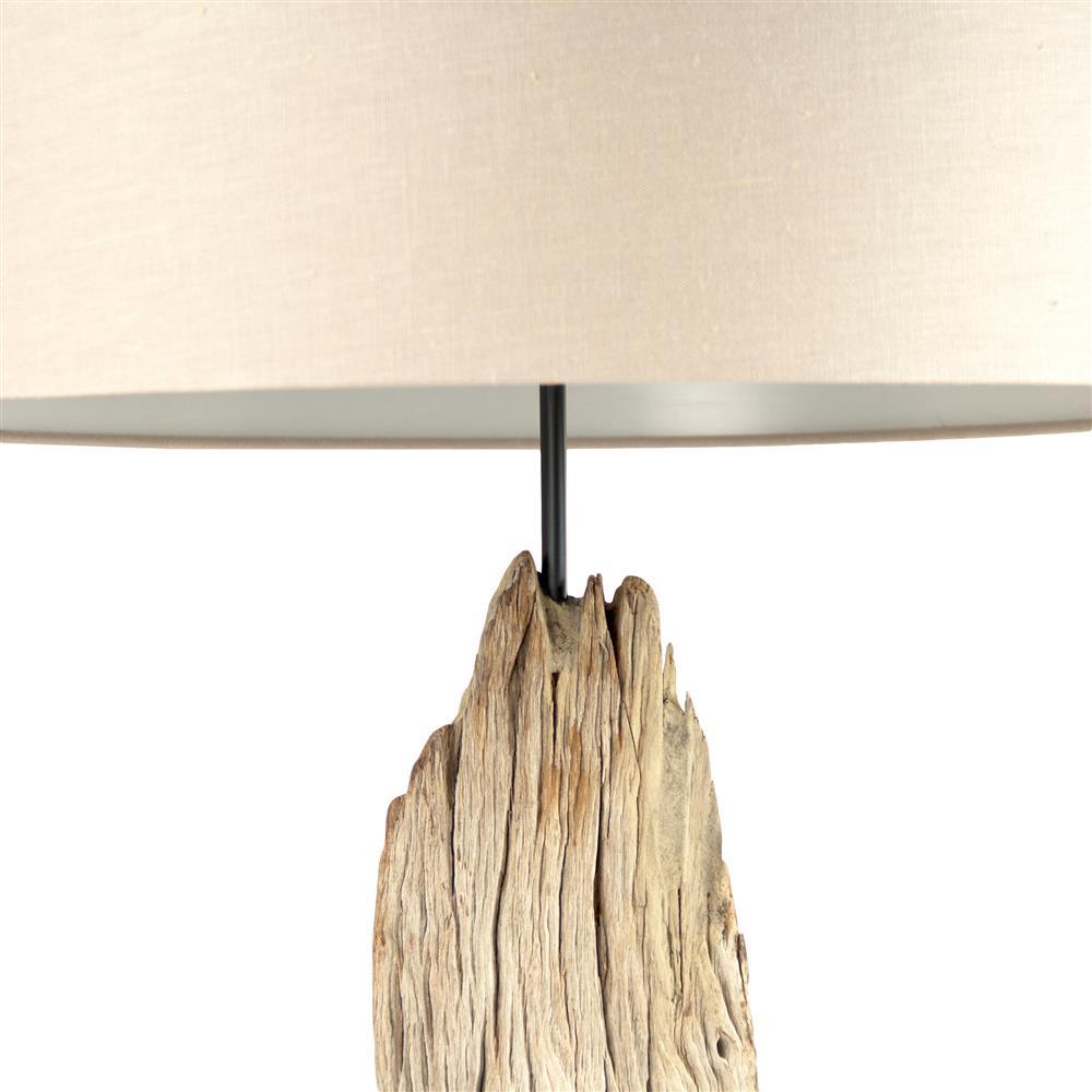 Arcadia Coastal Beach Buffed Natural Driftwood Floor Lamp