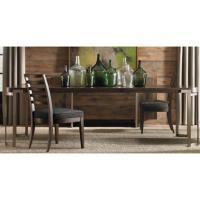 Patrick Mid Century Antique Brass Oak Wood Dining Table ...