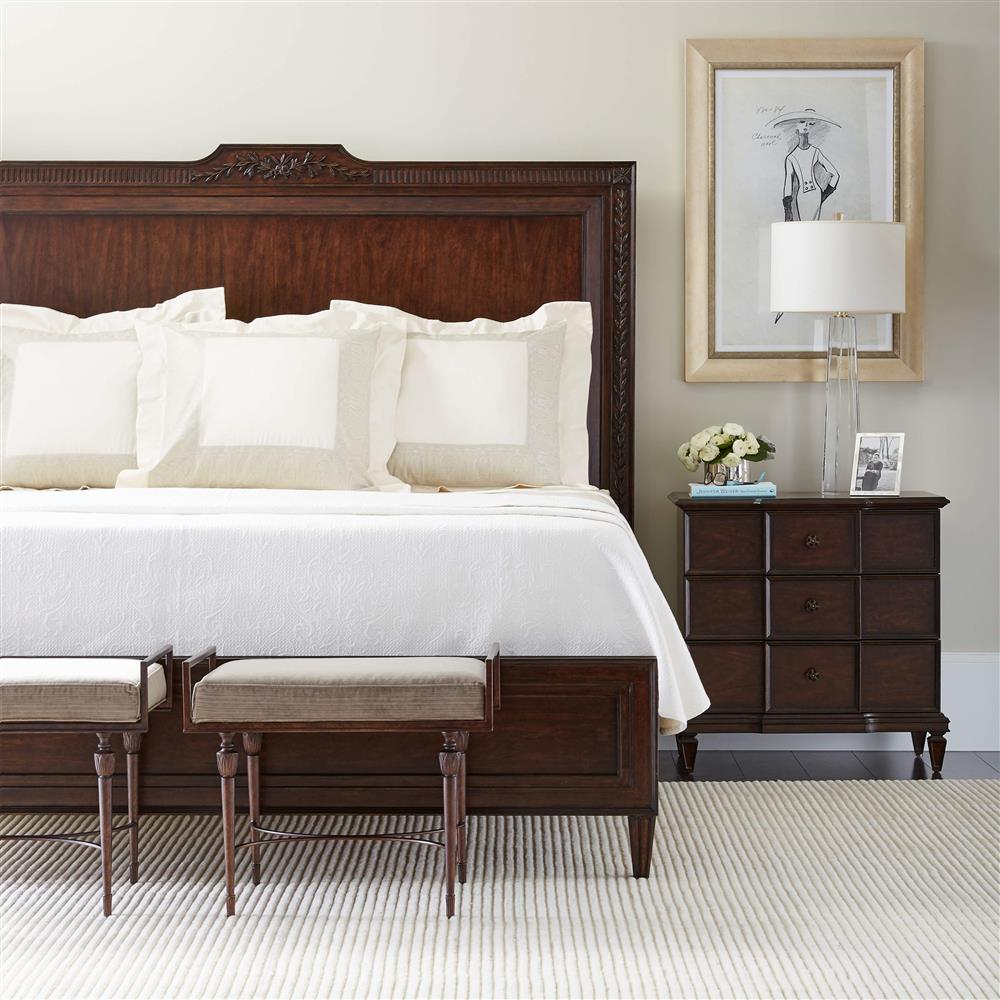 Samantha Modern Classic Wood Bed End Bench Kathy Kuo Home