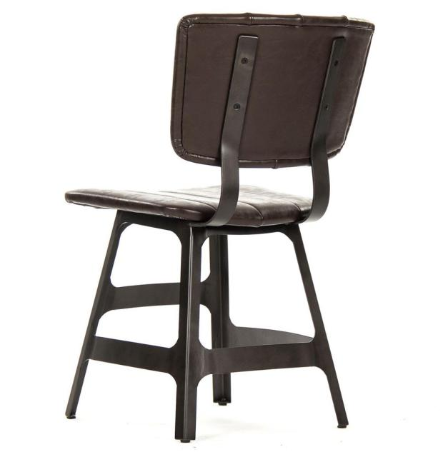 robertson rustic industrial espresso dining chairs