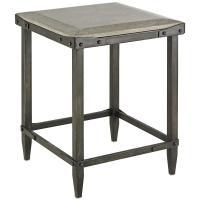 Decatur Industrial Loft Concrete Antique Steel Side Table ...