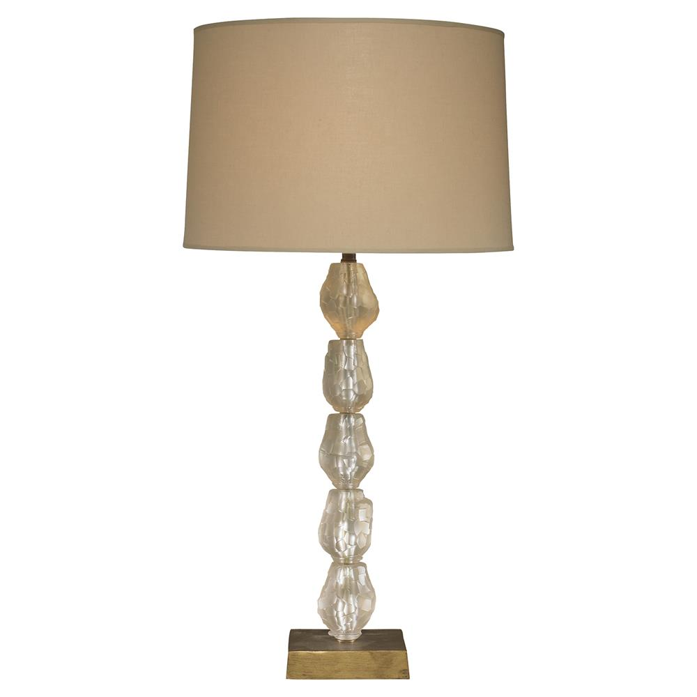 Mr. Brown Finlandia Modern Clear Stacked Glass Orb Table Lamp