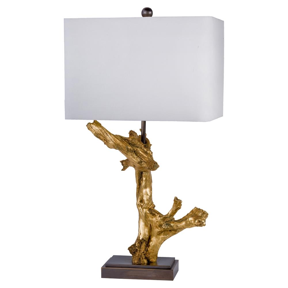 Saltaire Modern Gilded Gold Driftwood Table Lamp