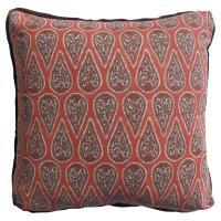 Eleni Global Bazaar Red Paisley Block Pillow - 24x24 ...