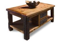 Reclaimed Wood Lodge Cabin Rustic Coffee Table | Kathy Kuo ...