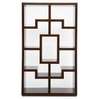 Obsie Modern Classic Geometric Warm Chestnut Bookcase ...