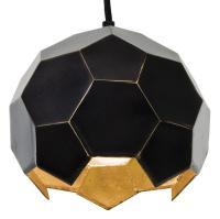 Norah Industrial Loft Midnight Gold Hexagon Pendant - 8D ...