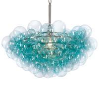 Sima Modern Floating Glass Bubbles Aqua Chandelier | Kathy ...