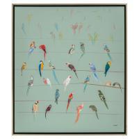 Teng Fei Global Bazaar Parrot Birds on Wire Framed Wall ...
