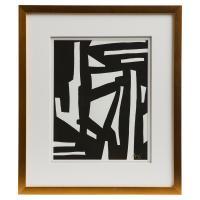 Peyton Modern Classic Black White Gold Frame Wall Art - I ...