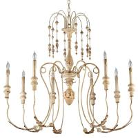 Maison French Country Antique White 8 Light Chandelier ...